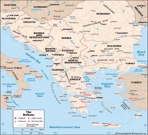 Balkan peninsula countries