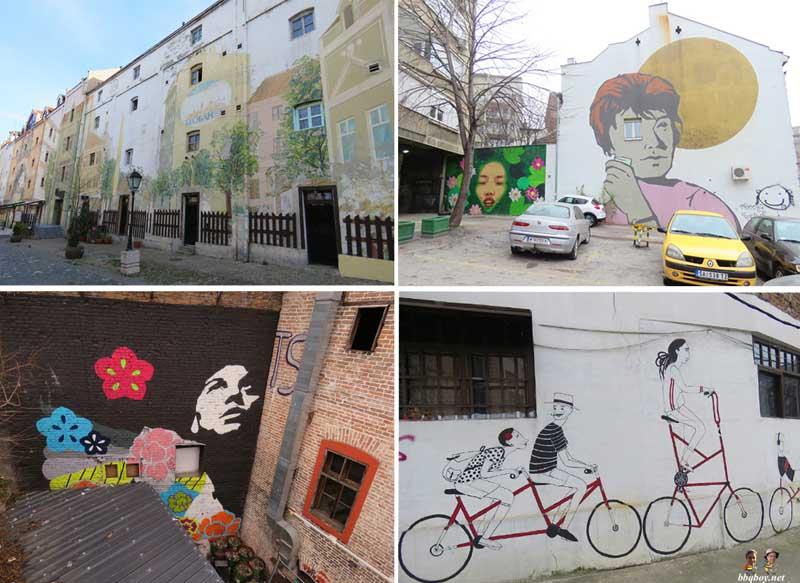 About Belgrade streets graffiti