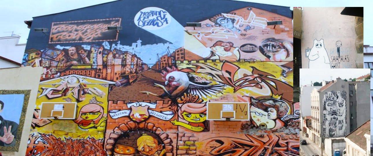 Belgrade graffiti art