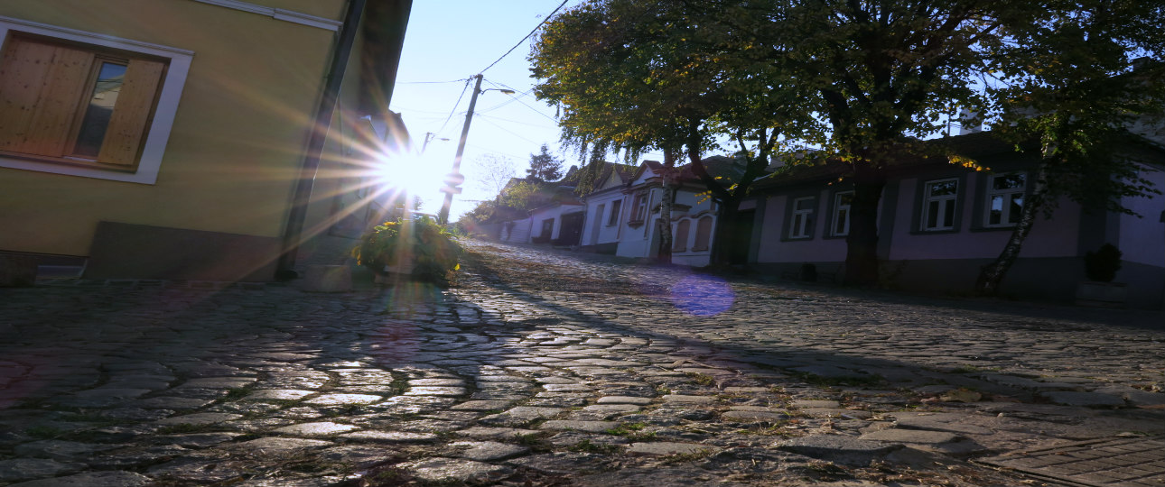 Zemun town old cobbled streets